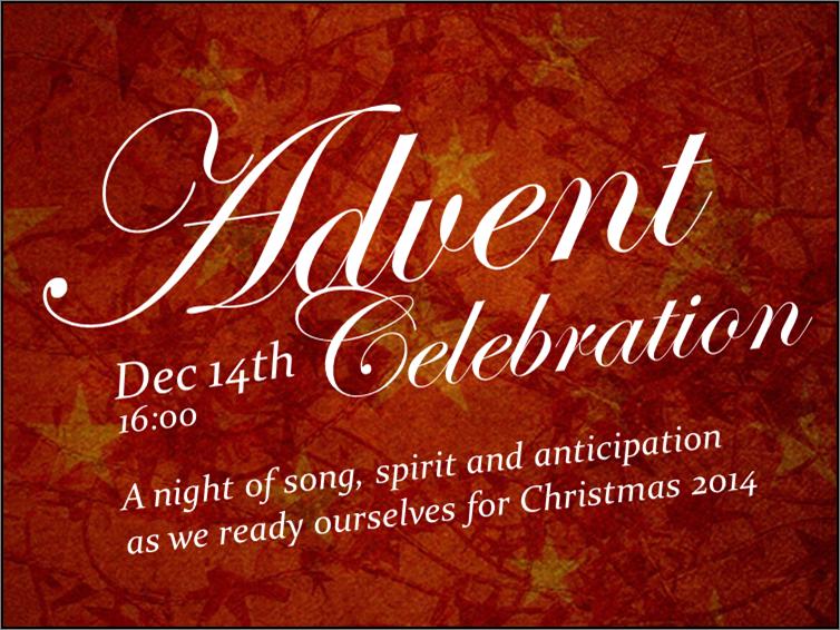 Advent Celebration dec 14 2014