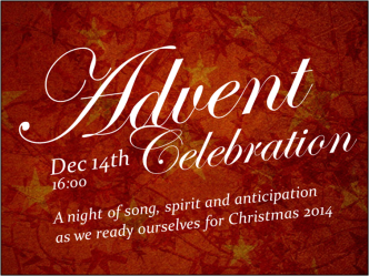 Advent Celebration dec 14 2014